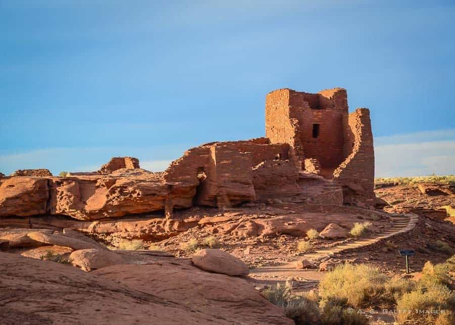 Wukoki Pueblo Indian ruins in Arizona