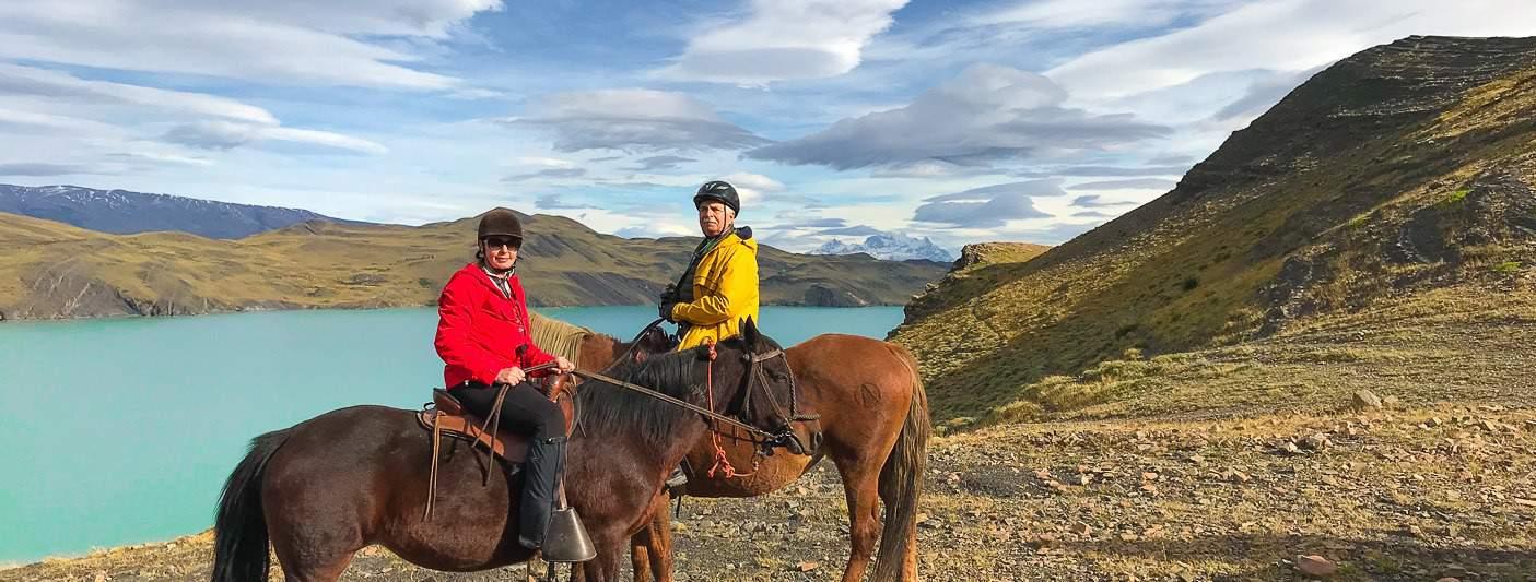 Riding horses in Patagonia