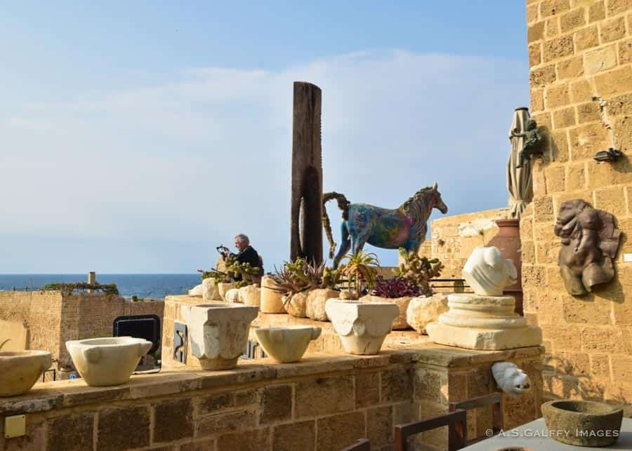Terrace of Ilana Goor Museum in Jaffa