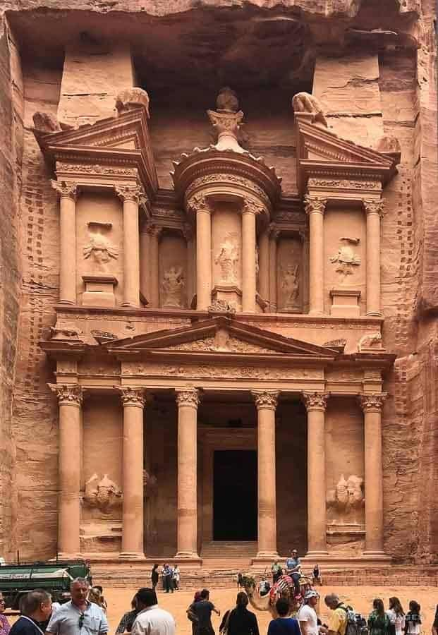 Visiting the Treasury in Petra