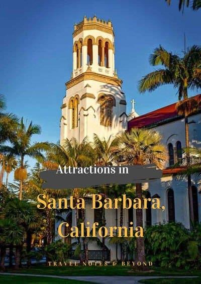 Santa Barbara attractions pin