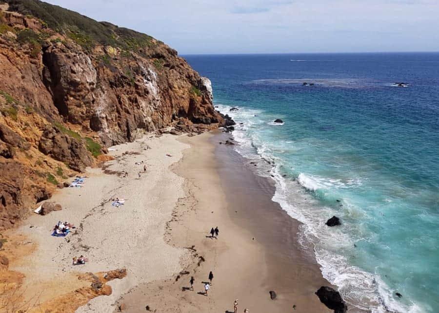 Malibu beach on PCH on the LA to San Francisco drive