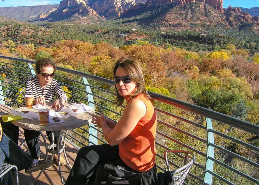 Snacking at one of Sedona's restaurants