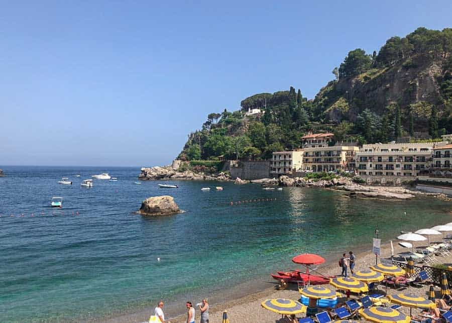 Beach at Giardini Naxos
