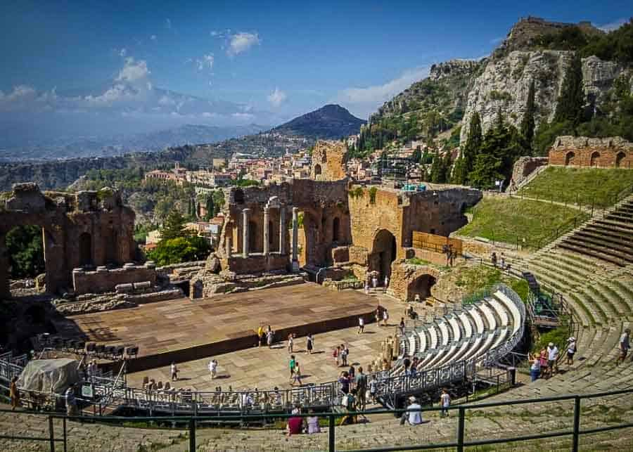 Visiting the Greek Theater in Taormina