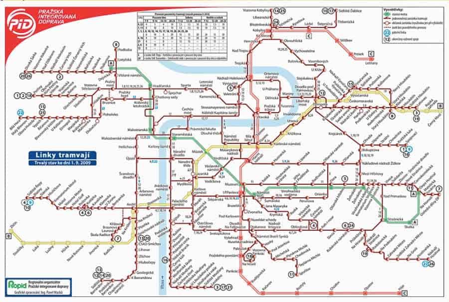 metro map for spending 3 day in Prague