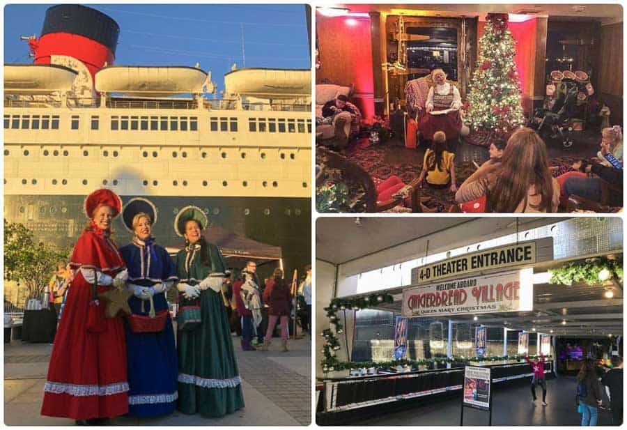Things to do in Los Angeles in December: enjoy a Queen Mary Christmas