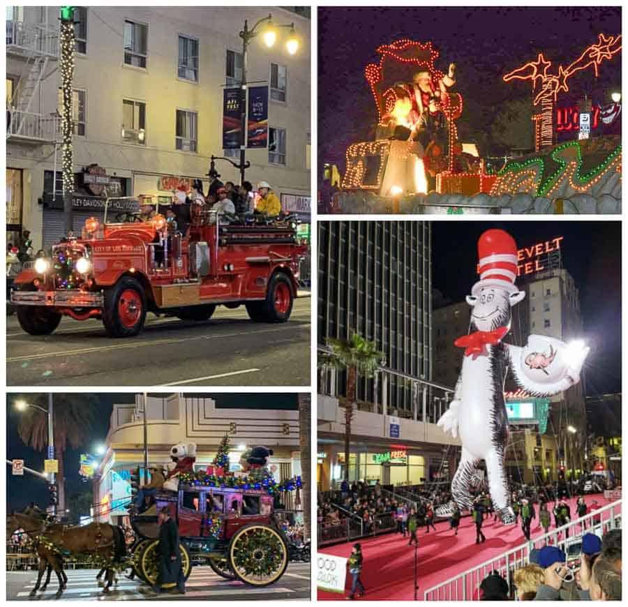 watching the Hollywood Christmas Parade