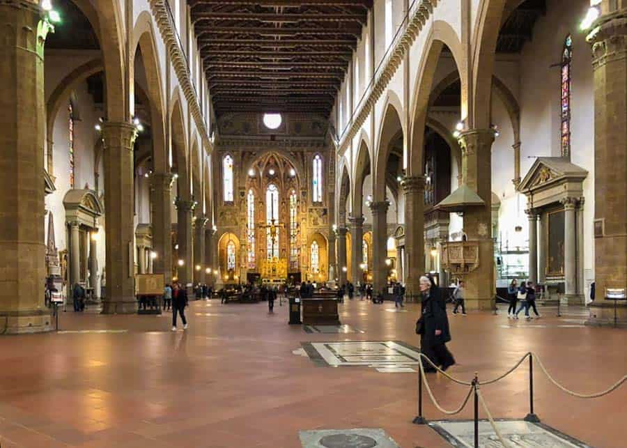 2 days in Florence: inside the Basilica di Santa Croce