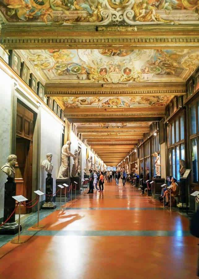 Visiting the Uffizi Gallery on a 2 days in Florence itinerary
