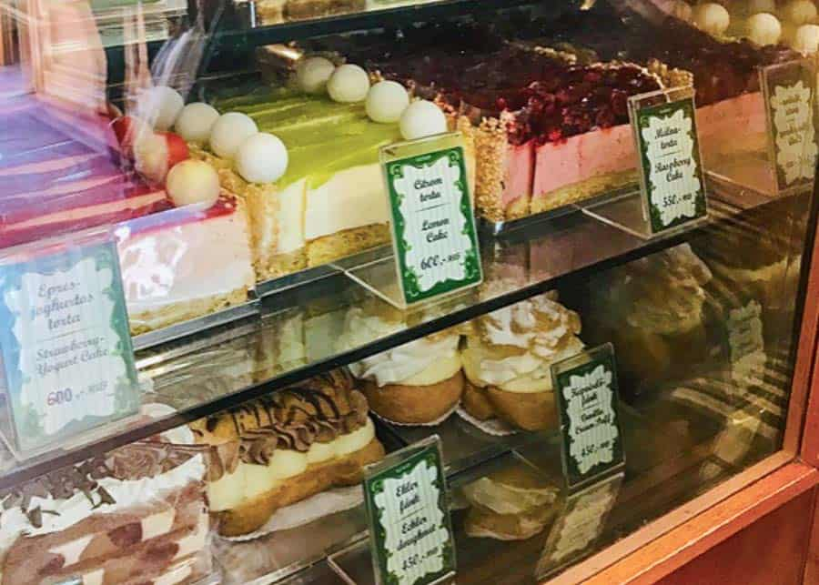 cakes at Ruszwurm cafe in Buda