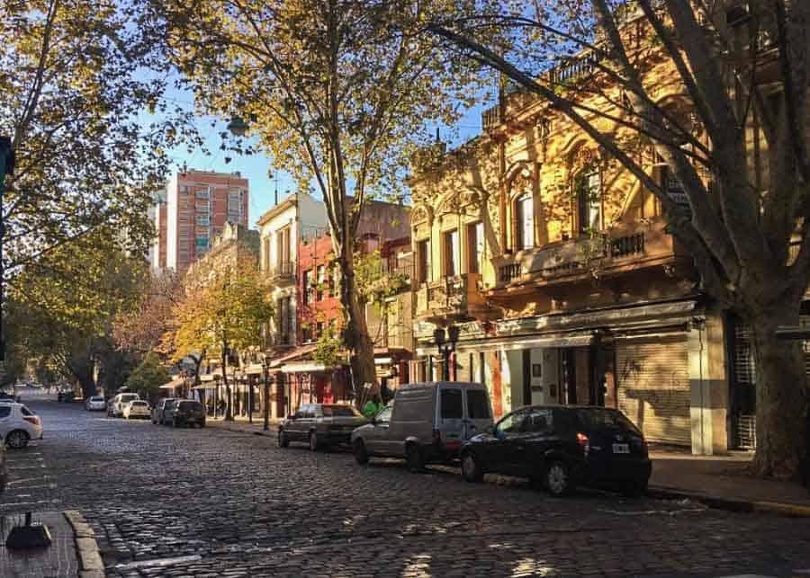 Street in San Telmo neighborhood in Buenos Aires