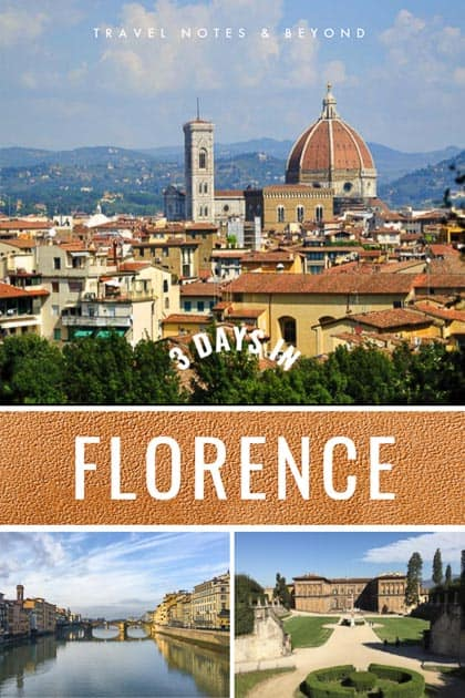 3 days in Florence itinerary