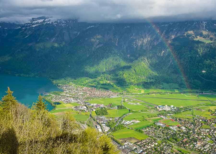 Panoramic view from Harder Kulm Peak