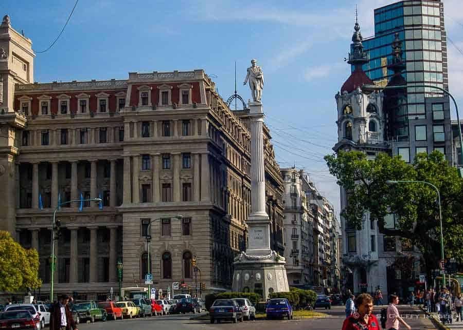 Statue of Juan Lavalle in San Nicolas neighborhood in Buenos Aires