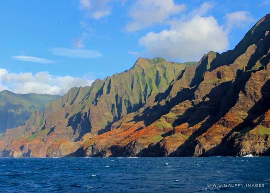 catamaran trip along the NaPali Coast best activity in Kauai