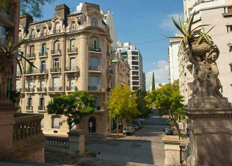 The neighborhood of Recoleta in Buenos Aires