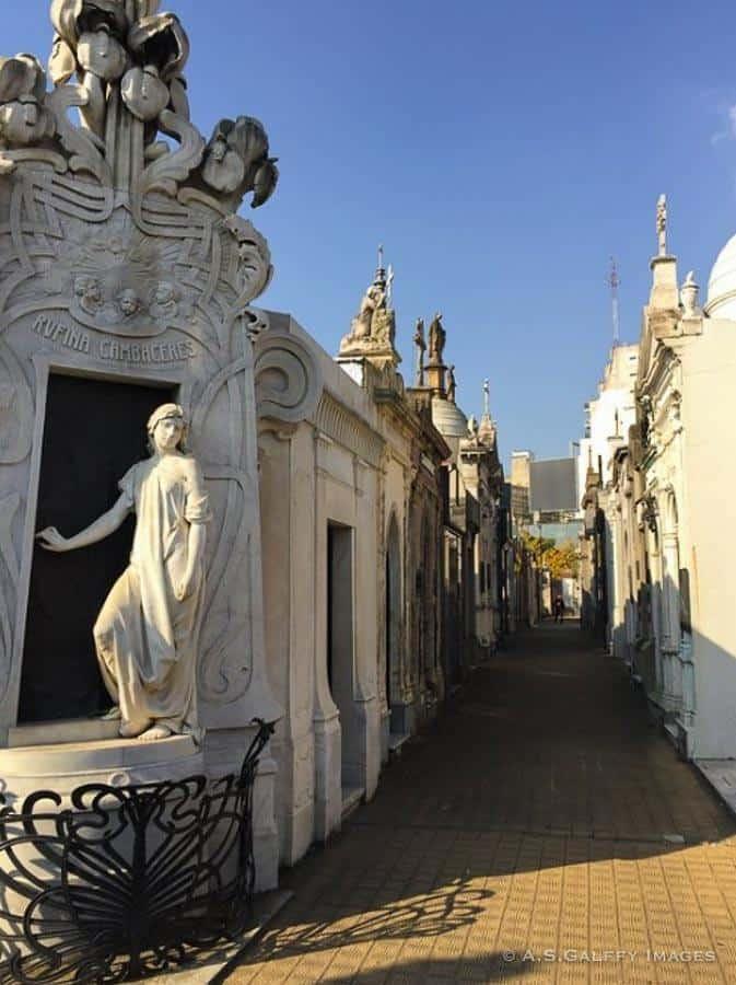 Rufina's Mausoleum at La Recoleta Cemetery