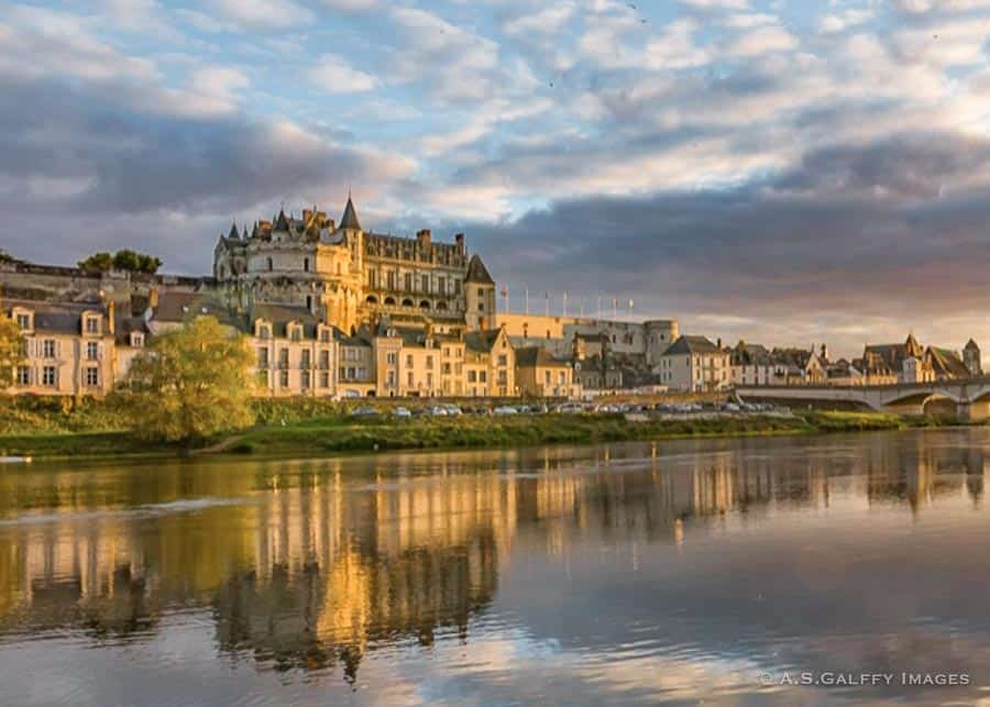 Castle of Amboise in the Loire Valley