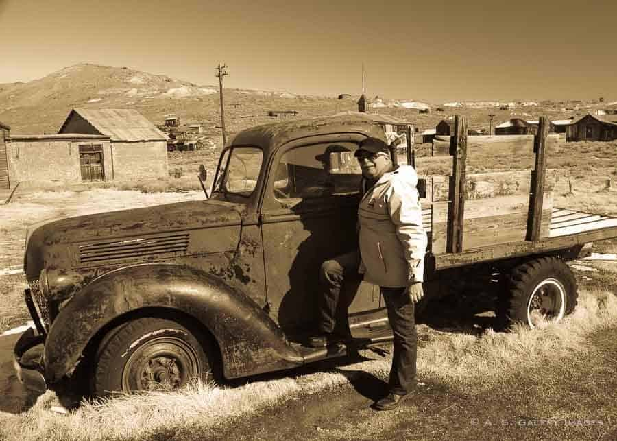visiting Bodie ghost town in winter