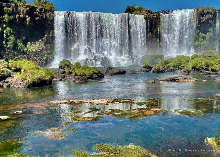 Visiting  the Iguazu Falls
