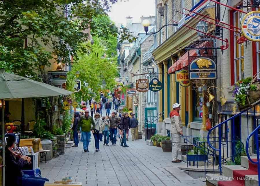 Pedestrian street in Quebec City