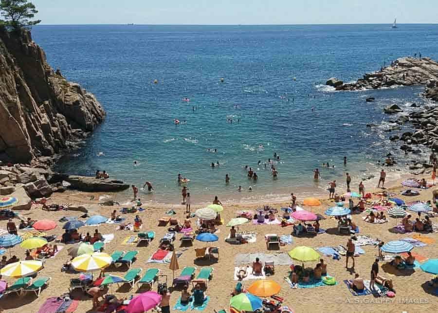 The beach of Colodar in Tossa