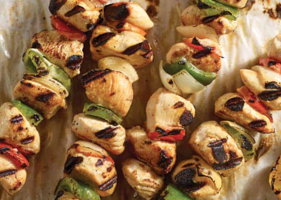 Shish kebab, a traditional food in Istanbul