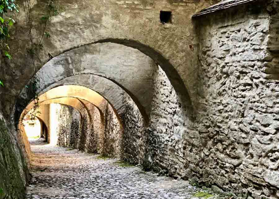 access to the fortified church