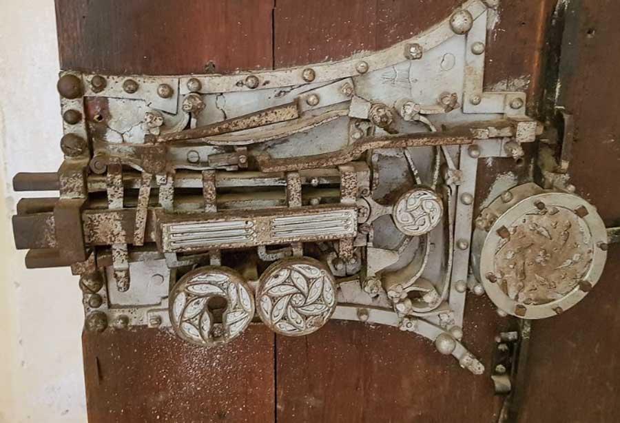 the sacristy door lock