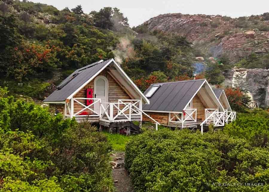 private cabins at Refugio Los Cuernos