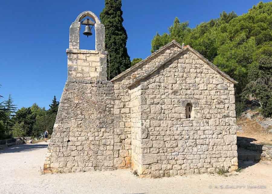 View of St. Nicholas Church on Marjan Hill