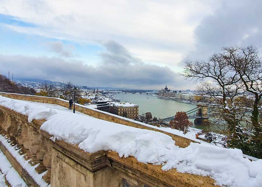 winter weather in Budapest
