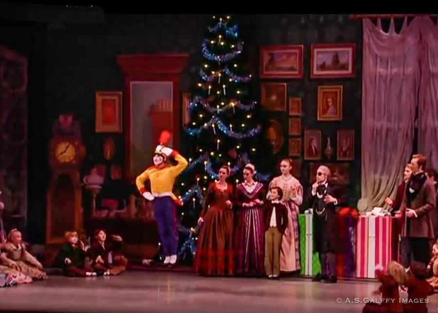 Watching the Nutcracker ballet at the Budapest Opera in winter