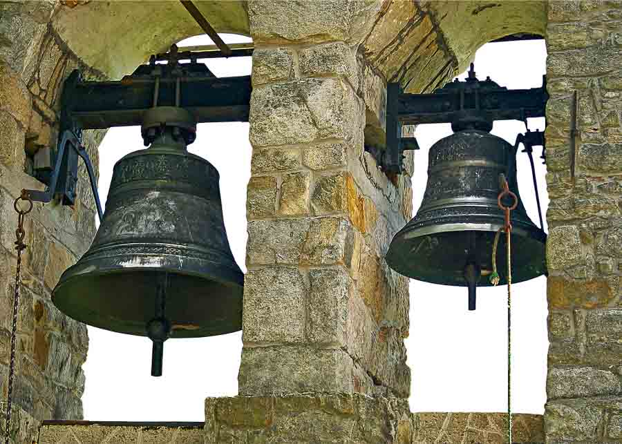 Why do church bells ring at noon in Europe?