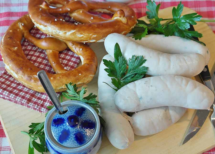 Authentic German food at the Octoberfest Festival