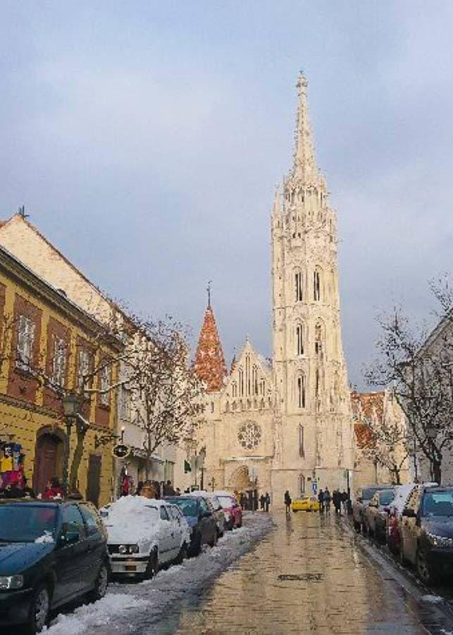 St. Matthias Church in winter