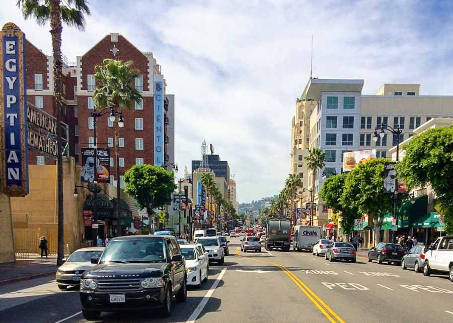 One day in L.A.: Driving along Sunset Boulevard