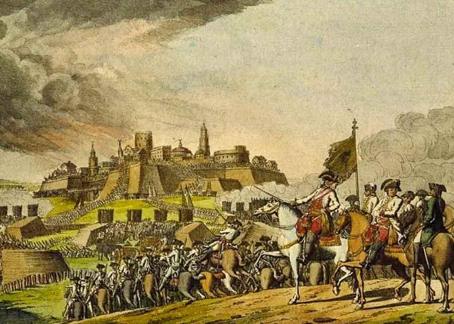 Painting representing the siege of Belgrade