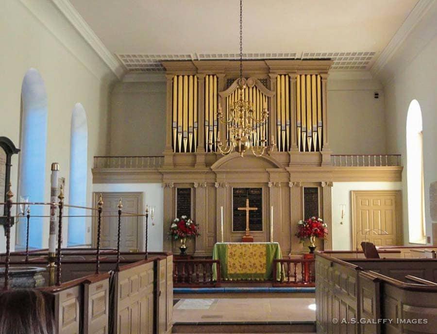Sanctuary of the Burton Parish Church