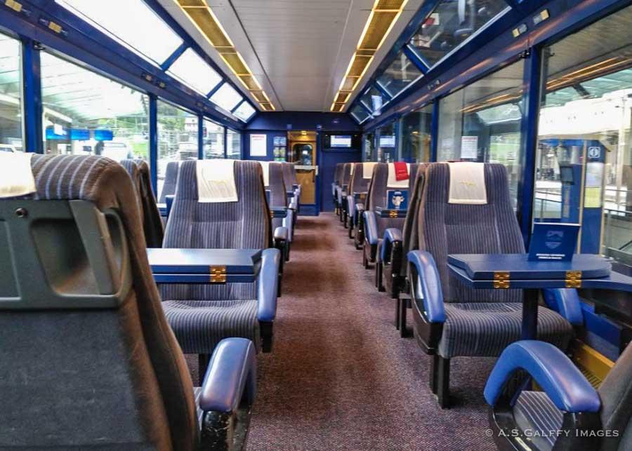 the Golden Pass Panoramic Express train