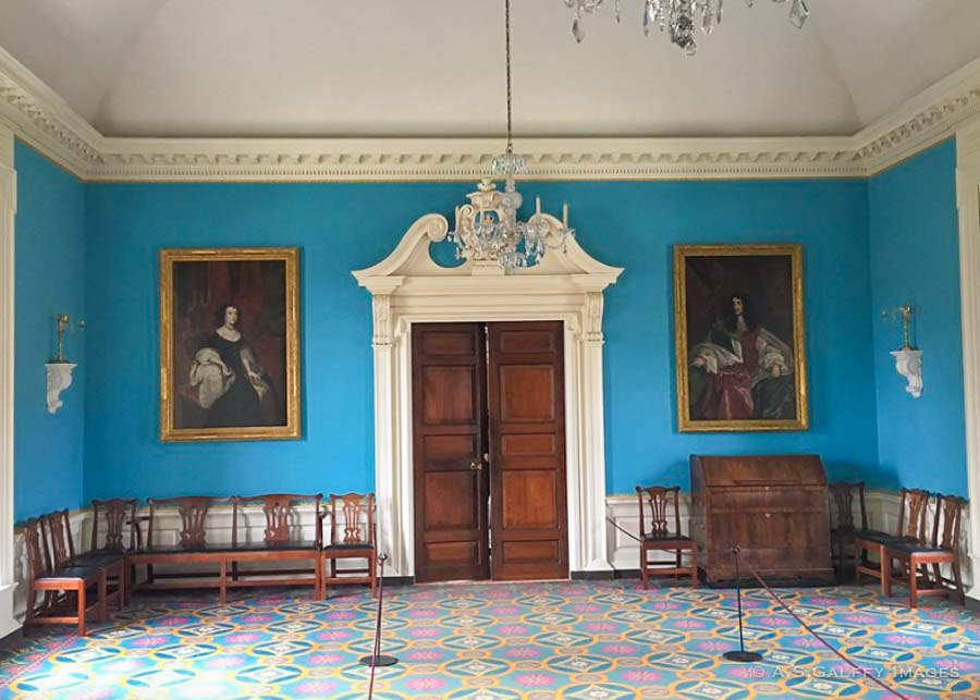 Interior decor at the Governor's Palace in Colonial Williamsburg