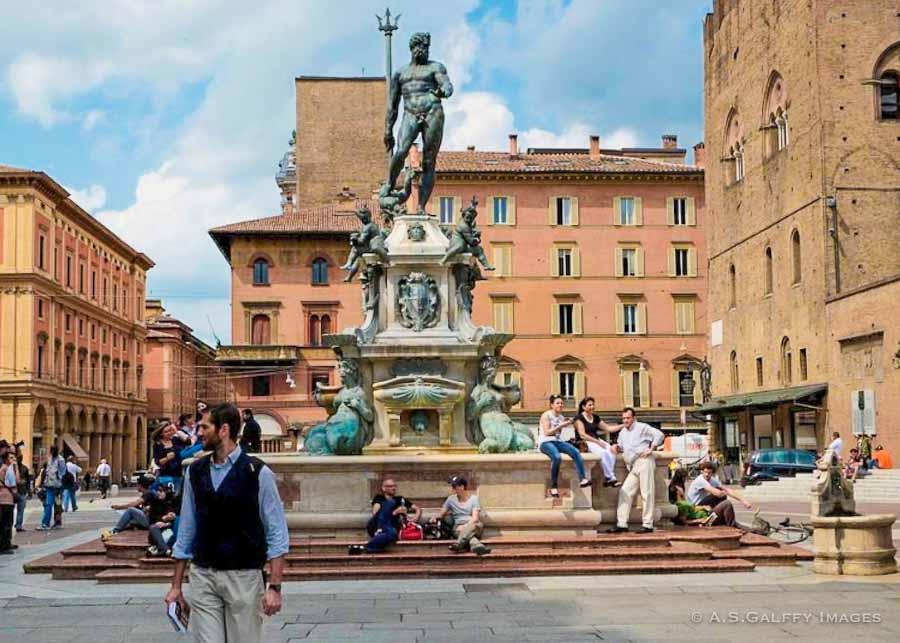 The Fountain of Neptune in Piazza Maggiore