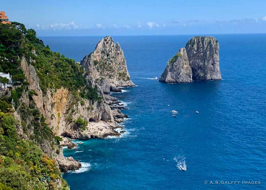 The Faraglioni rocks just off the coast of Capri