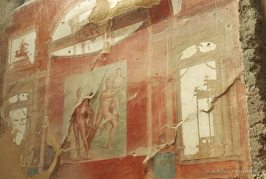 Mural painting at Herculaneum