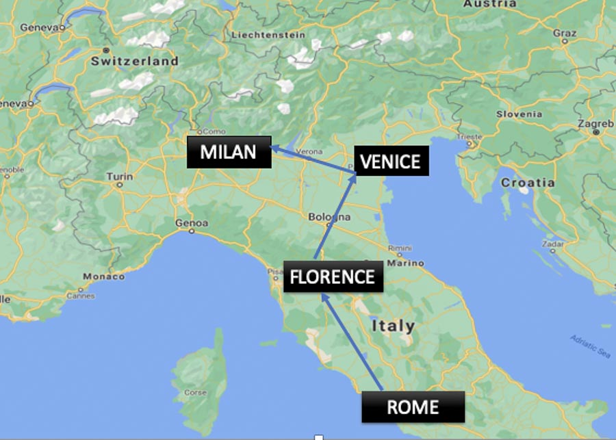 10 Days in Italy: Itinerary #1