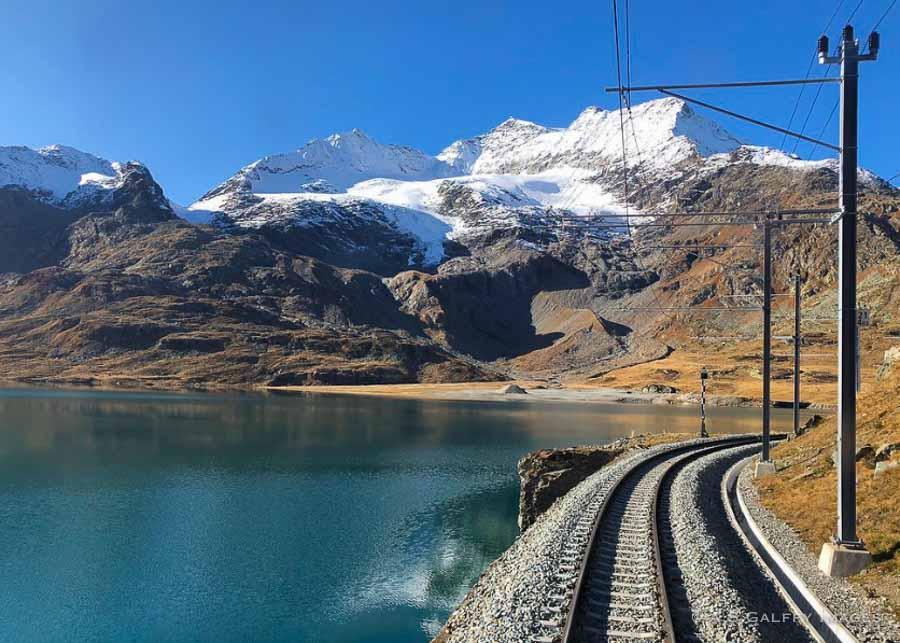 Swiss scenic train itinerary