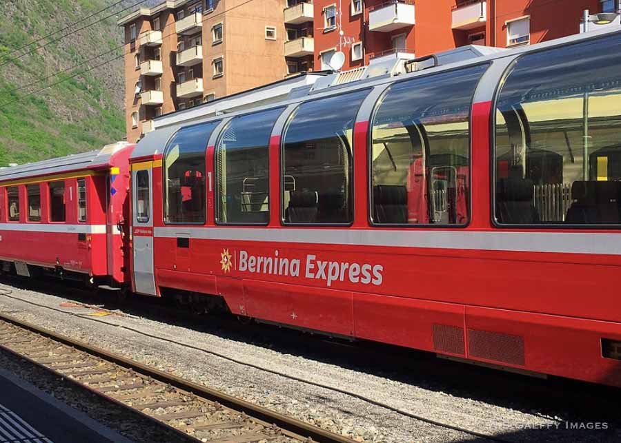 The Bernina Express Panoramic Train