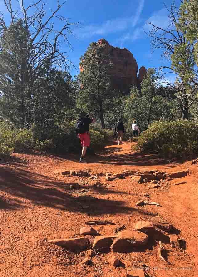 Stepping rocks on the Burins Mesa Trail