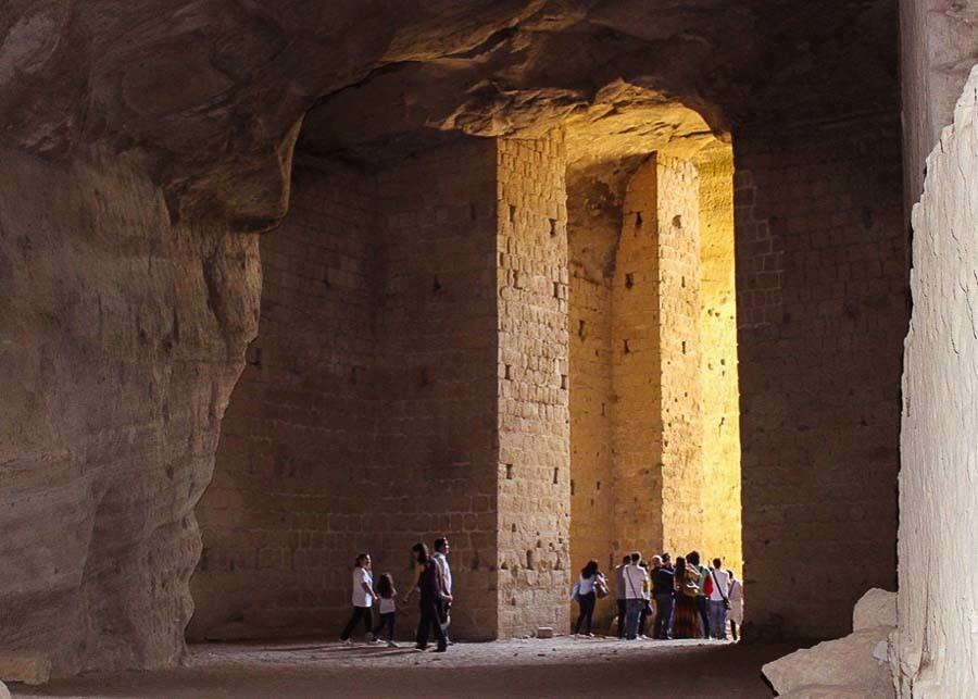 The vaulted Chamber where the Sibyl delivered her oracles at Cumae